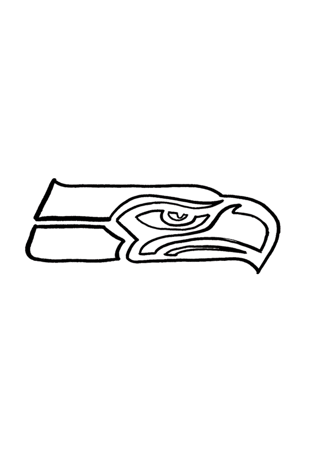 seahawks logo circle coloring pages - photo#18
