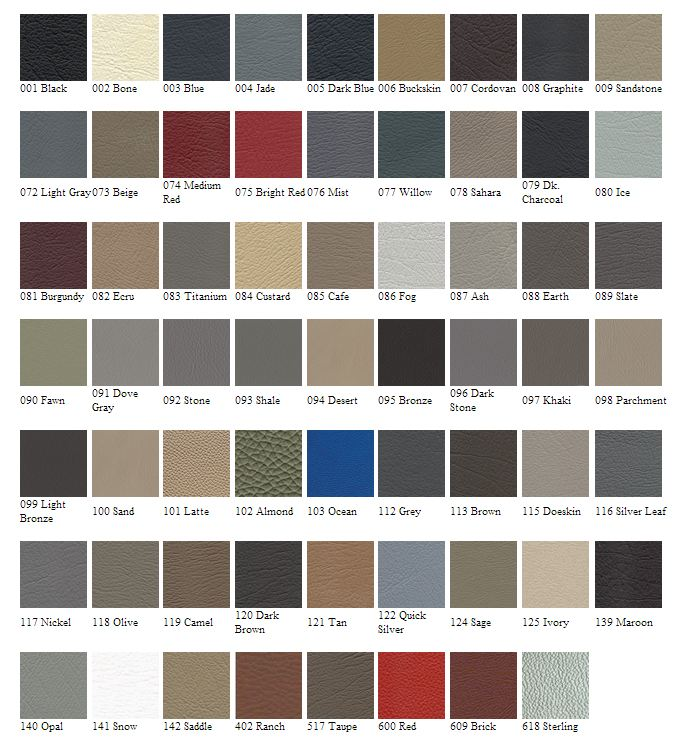 vehicle color chart vehicle ideas. Black Bedroom Furniture Sets. Home Design Ideas