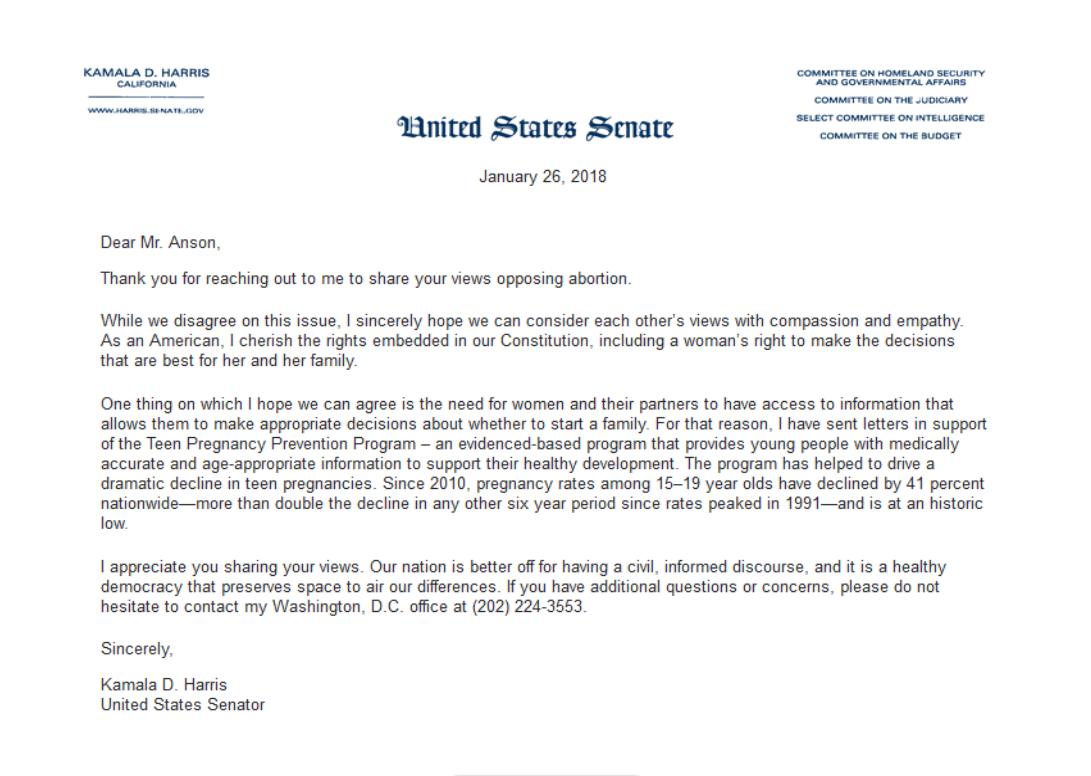 Senators Letter Ignores Constituents Chronic Pain Pain News Network