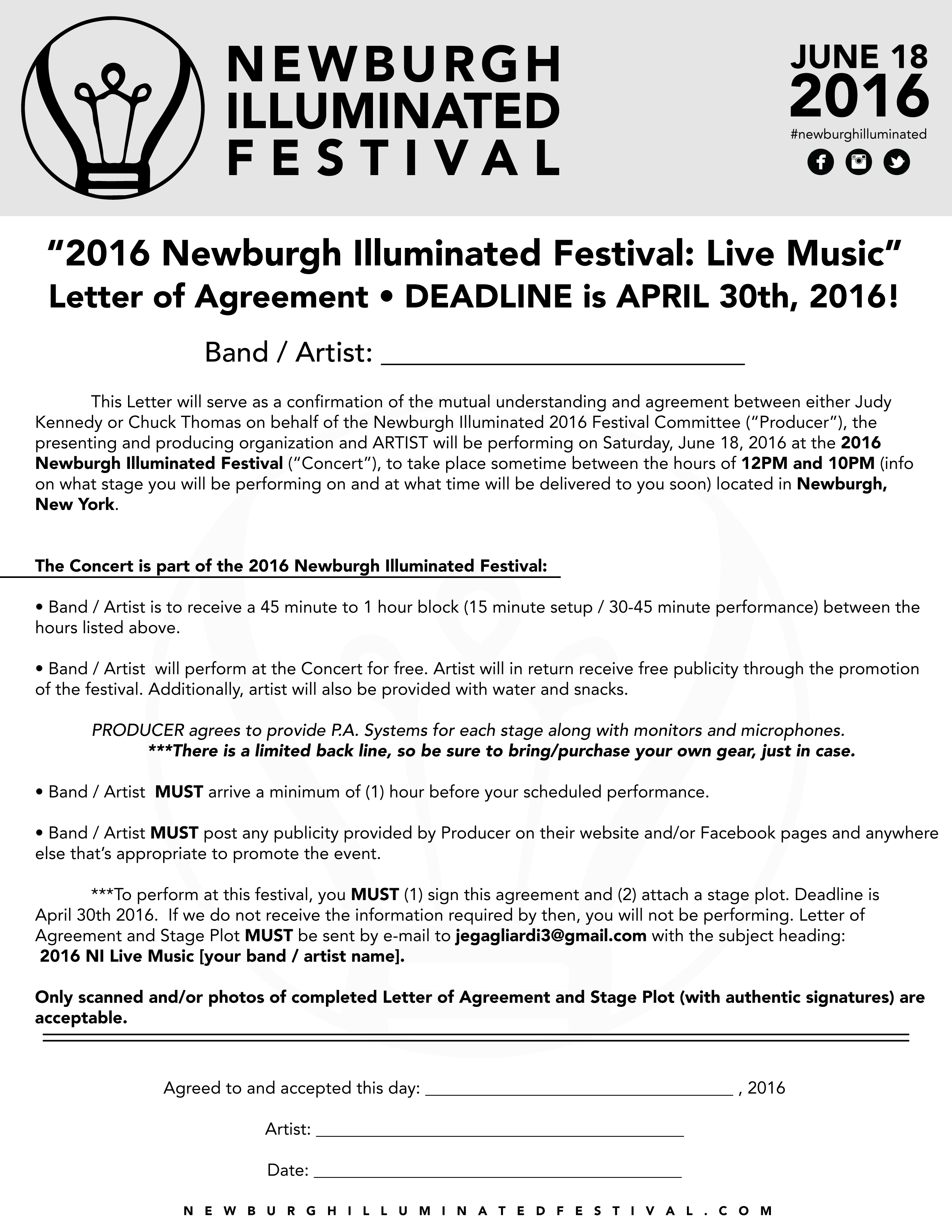 Music Performance Contract Download Stage Plot Email