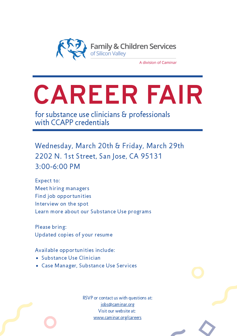 Caminar: Santa Clara Region Substance Use Programs Career