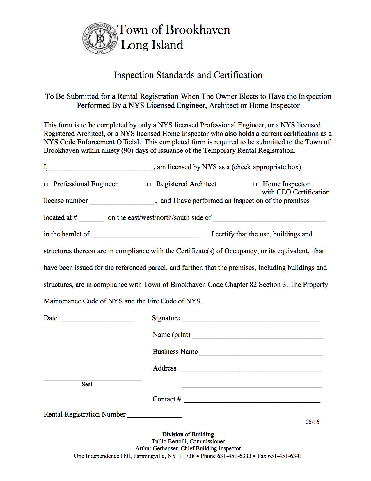 Town rental permit inspections homeport inspections inc brookhaven rental inspection form xflitez Images