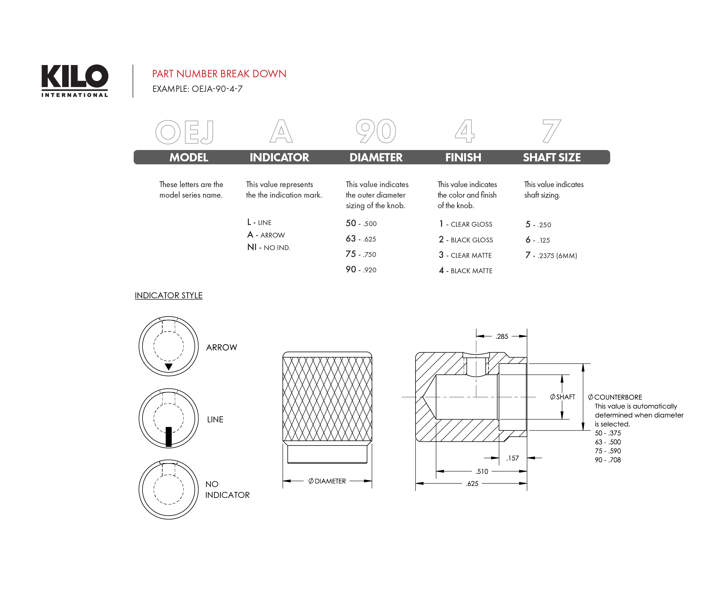 Knobs Hardware Fasteners Accessories Digikey Linear Potentiometer Wiring Diagram Oejl 50 1 7 Datasheet