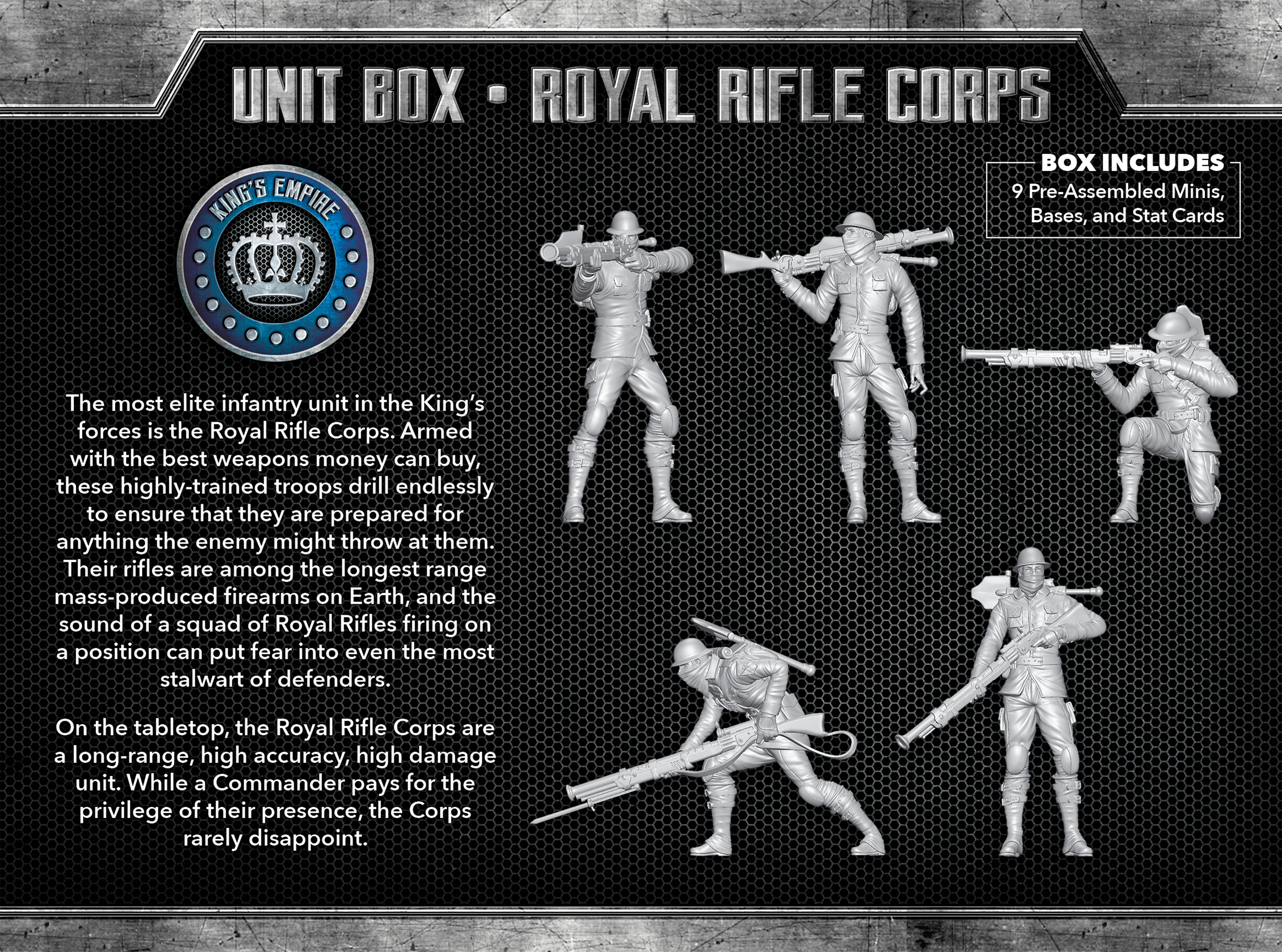 Kings Empire Unit Box The Other Side Royal Rifle Corps Wyrd Miniatures