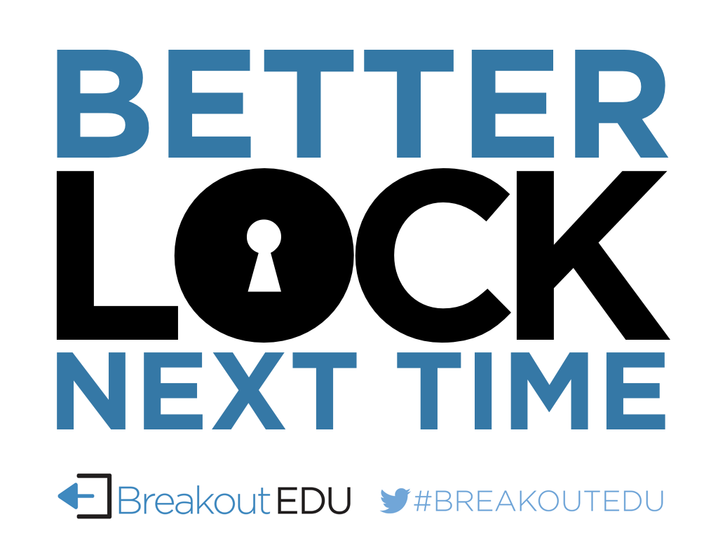 End Of Game Signs Breakout Edu
