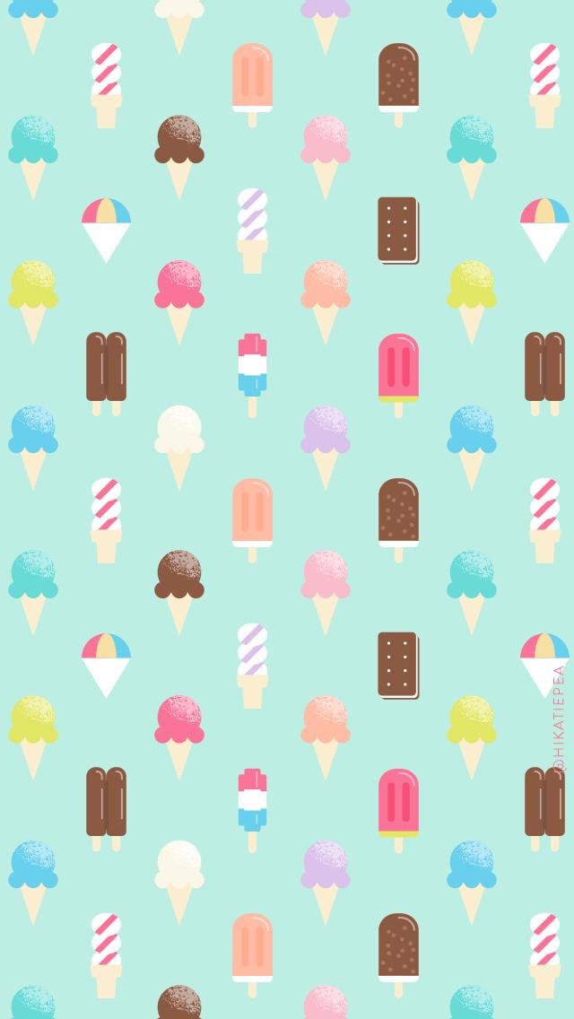 Freebie: Ice Cream Wallpaper — Katie Pea Studio