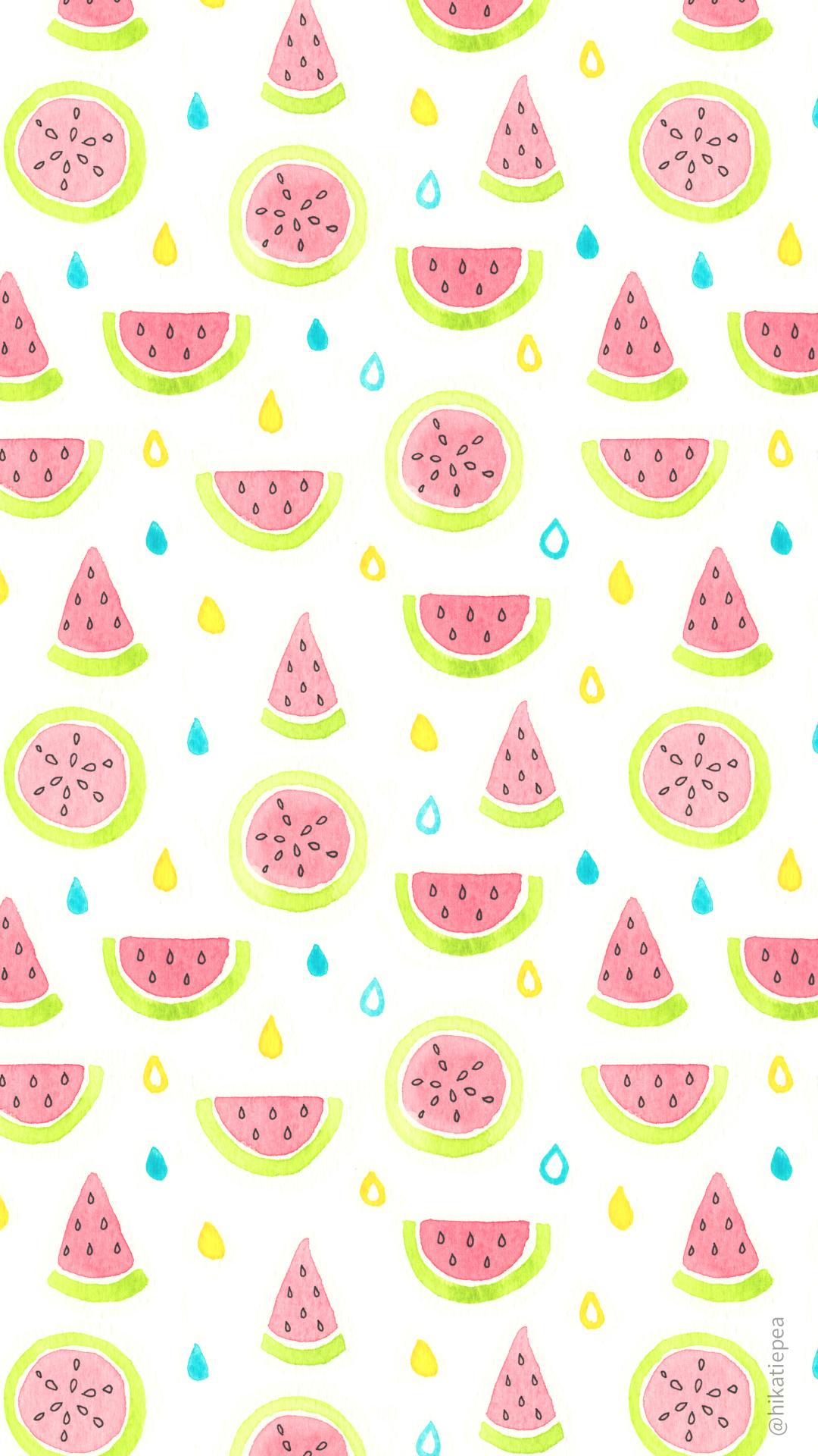 Watermelon Wallpaper � Katie Pea Studio