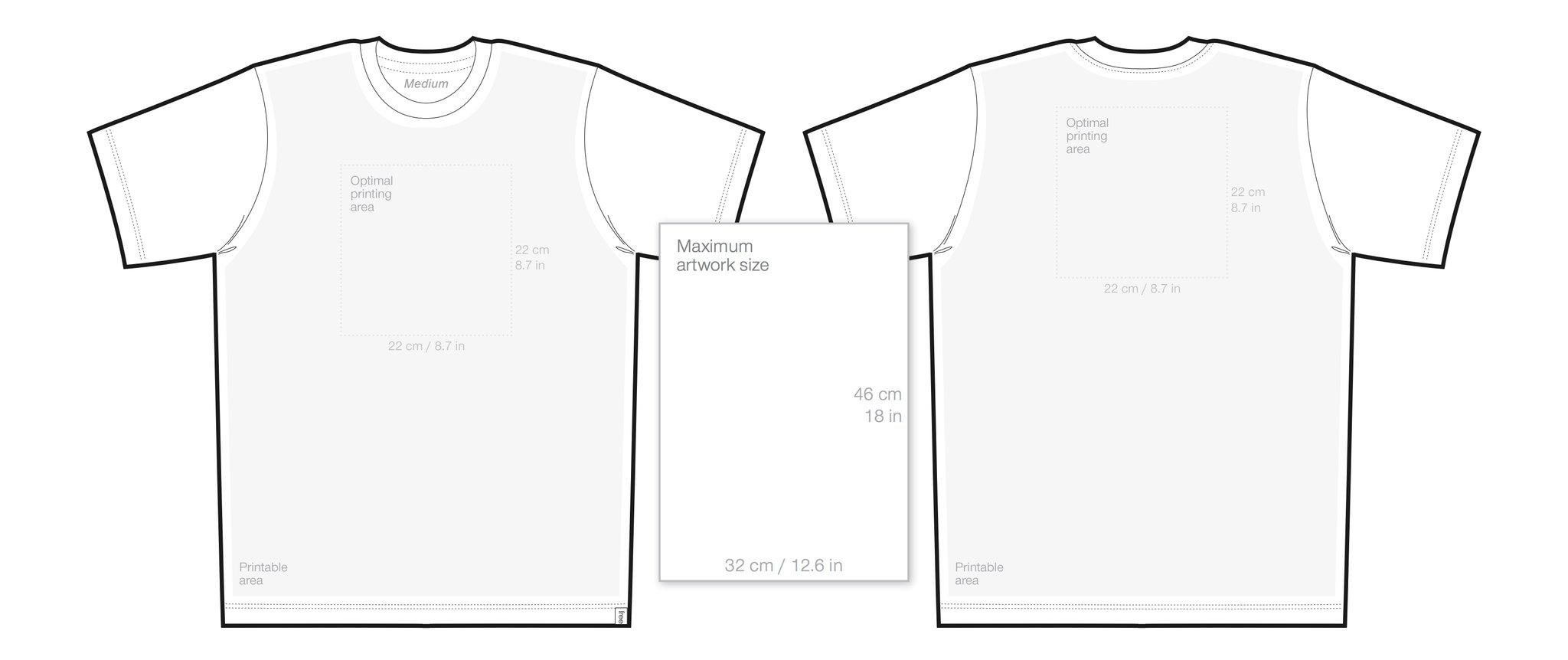 Blank Collar T Shirt Template