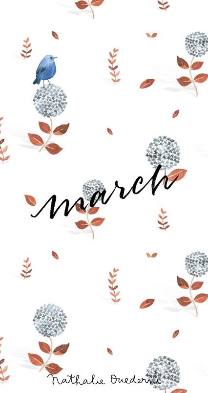 March Free Desktop Wallpaper Nathalie Ouederni