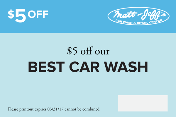 Matt And Jeff S Car Wash Coupon