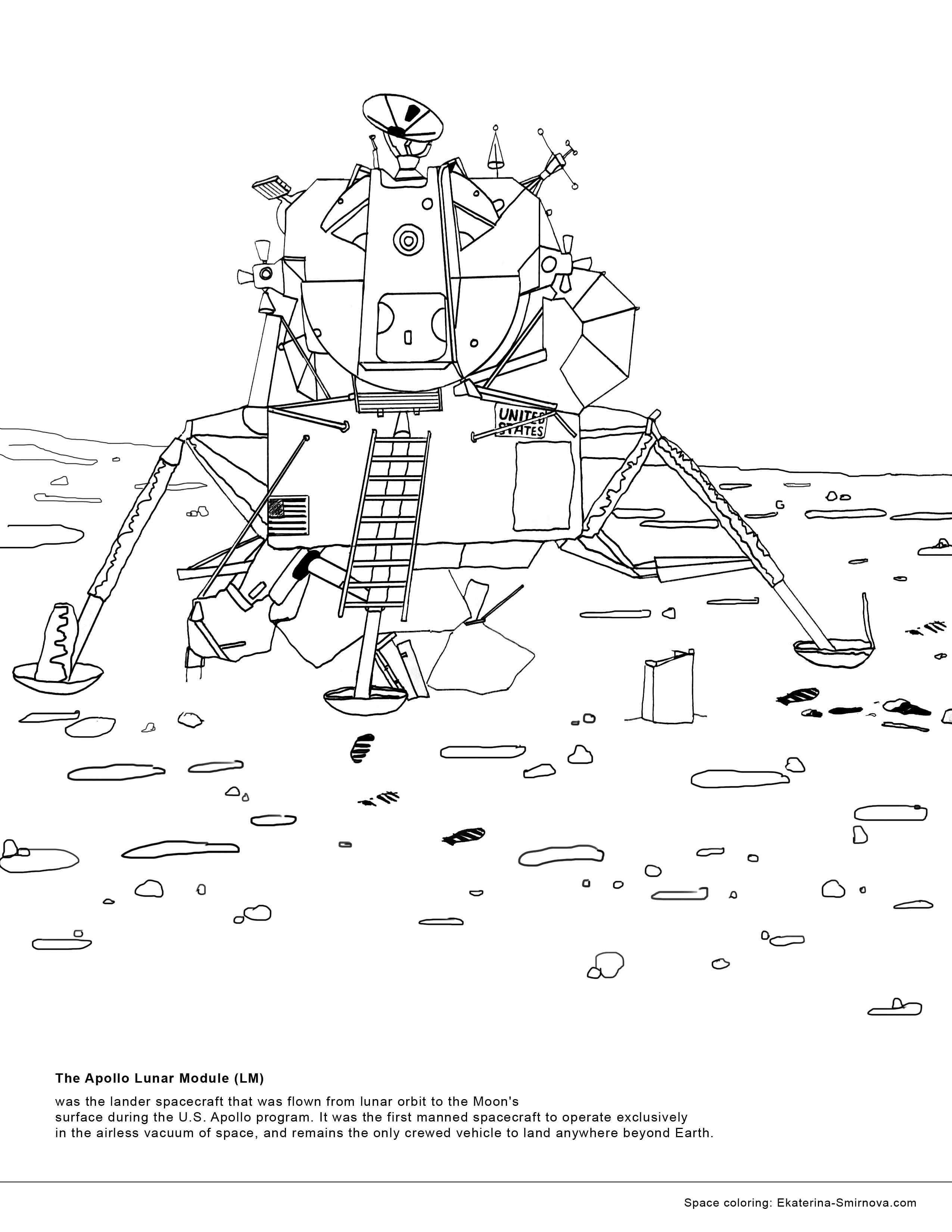 Coloring book for space missions juno rosetta cassini