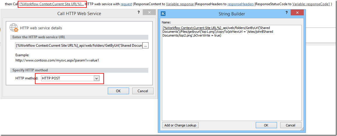 Office 365 Sharepoint Designer Using Sharepoint Designer 2013 Workflow To Copy File Via Rest On .