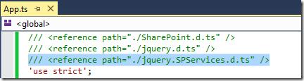 TypeScript Definition file for SPServices v0 1 — John Liu  NET
