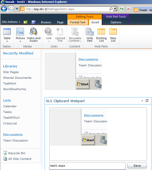 Pasting pictures from clipboard to SharePoint in browser, via