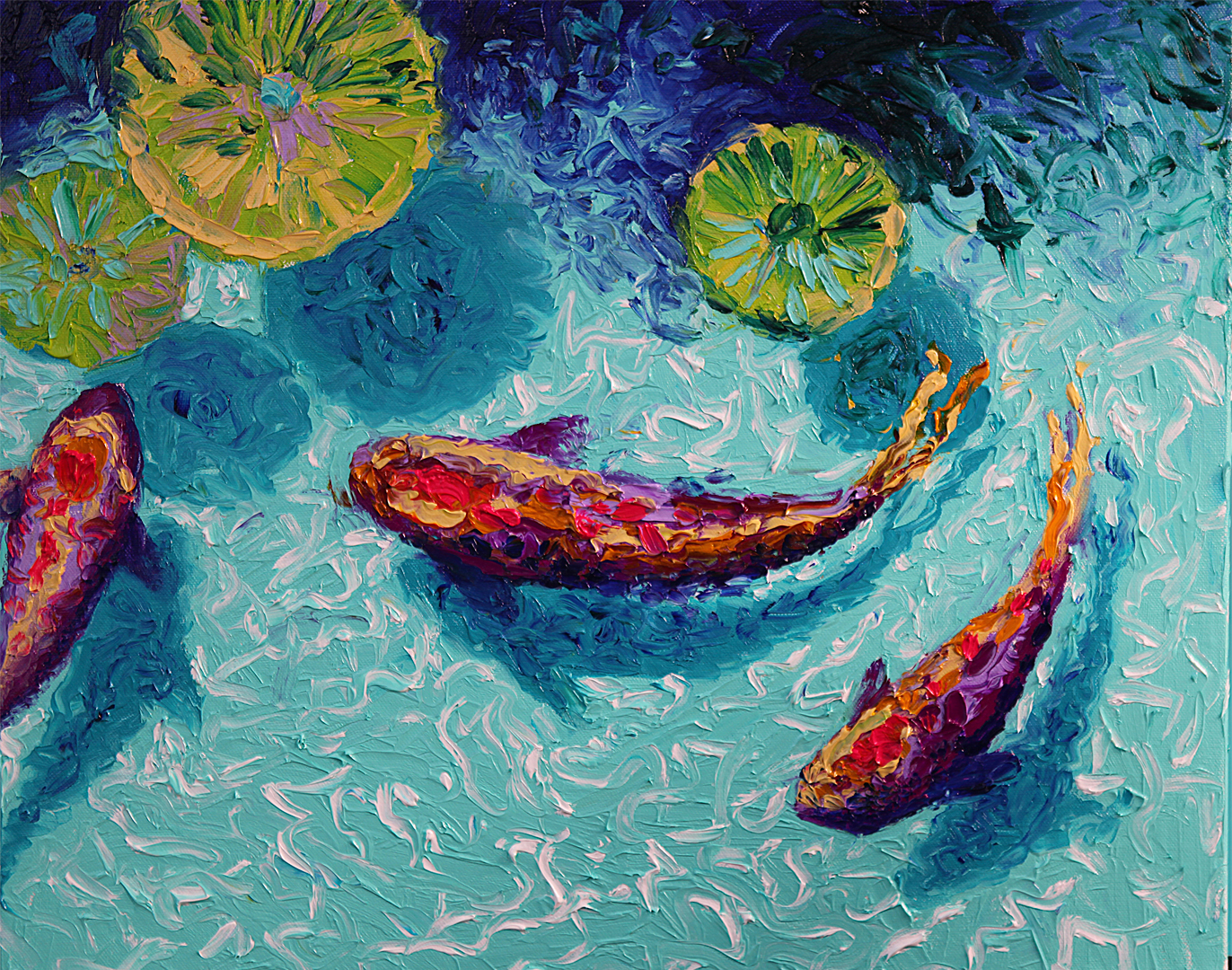 Finger Painting With Oils — IRIS