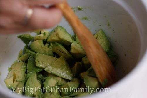 Mix lemon & avocado