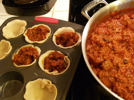 Picadillo pie filling