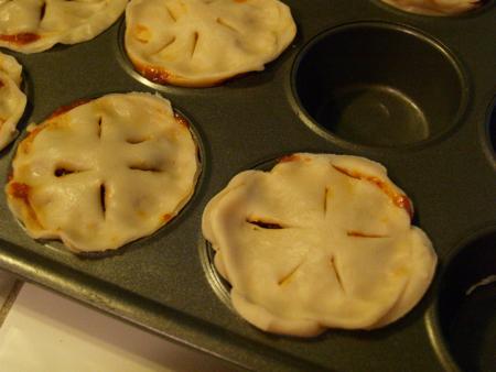 Picadillo pies before baking