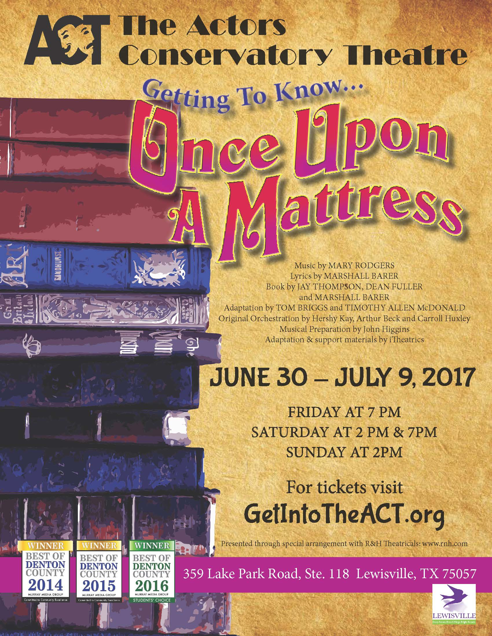 Once Upon a Mattress Show Poster - JPG