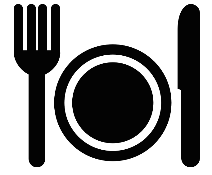 fork and plate icon