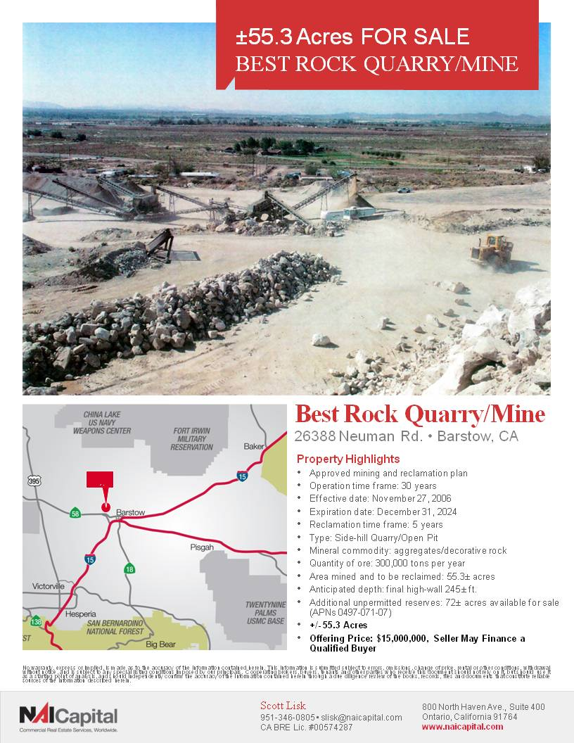 Best Rock Quarry/Mine