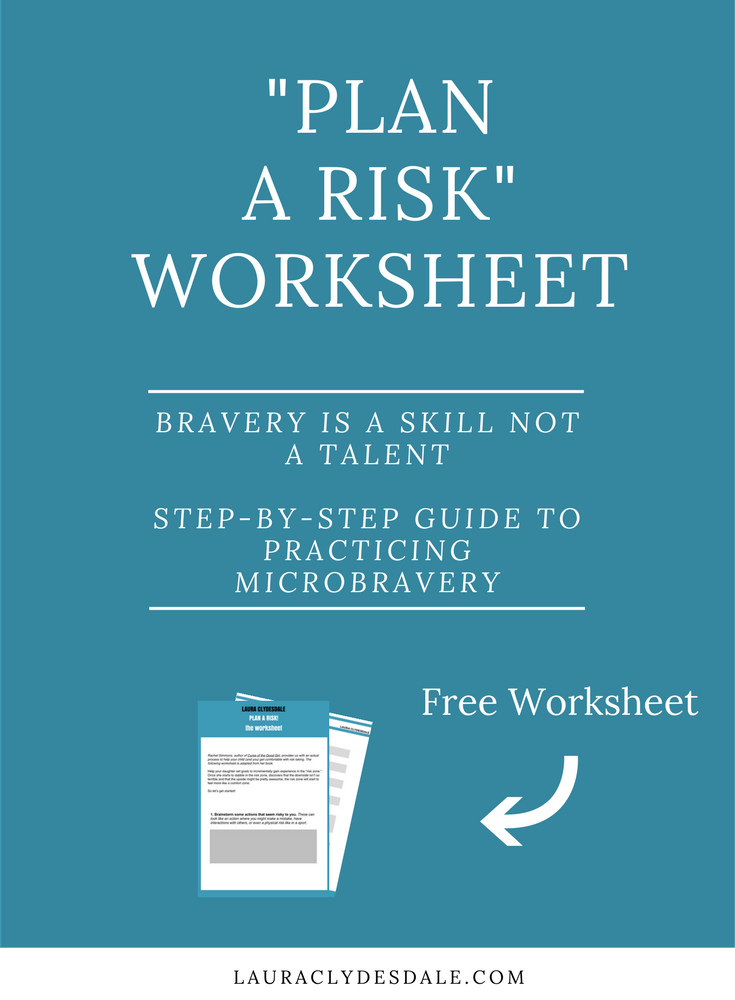 Girls Leadership | Plan a Risk Worksheet | Take More Risks | Overcome Fear of Failure | Microbravery