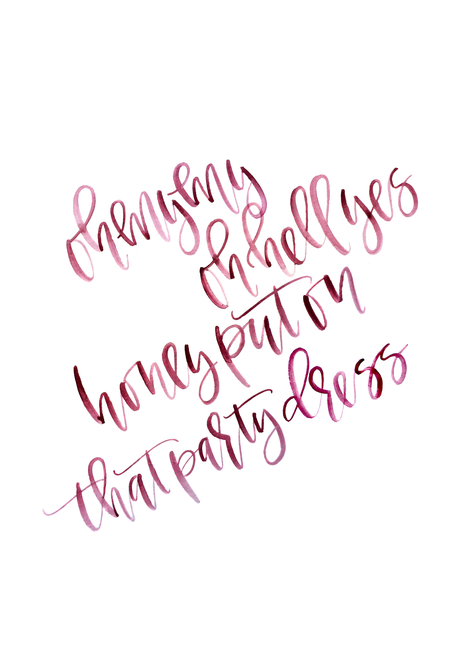 Girls night calligraphy printable — a fabulous fete