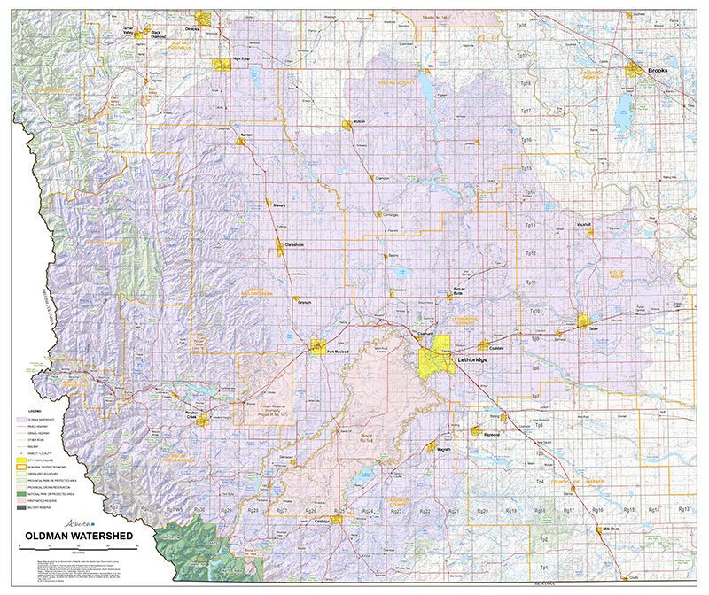 Current Maps Oldman Watershed Council
