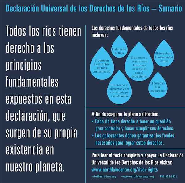 Declaración Universal de los Derechos de los Ríos