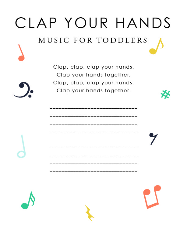 Piano hello piano sheet music : Music for Toddlers: Steady Beat — We Are the Music Makers