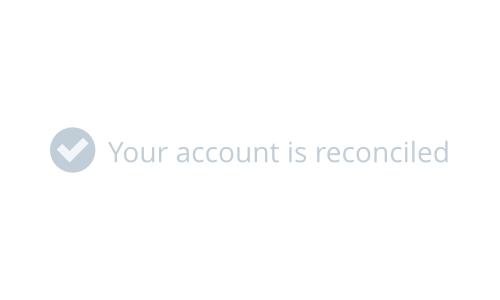 Your account is reconciled notification