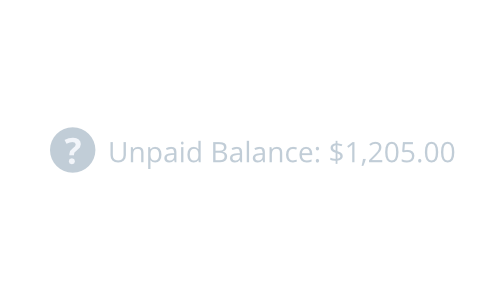 Unpaid balance notification