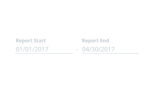 Report start and report end date pickers