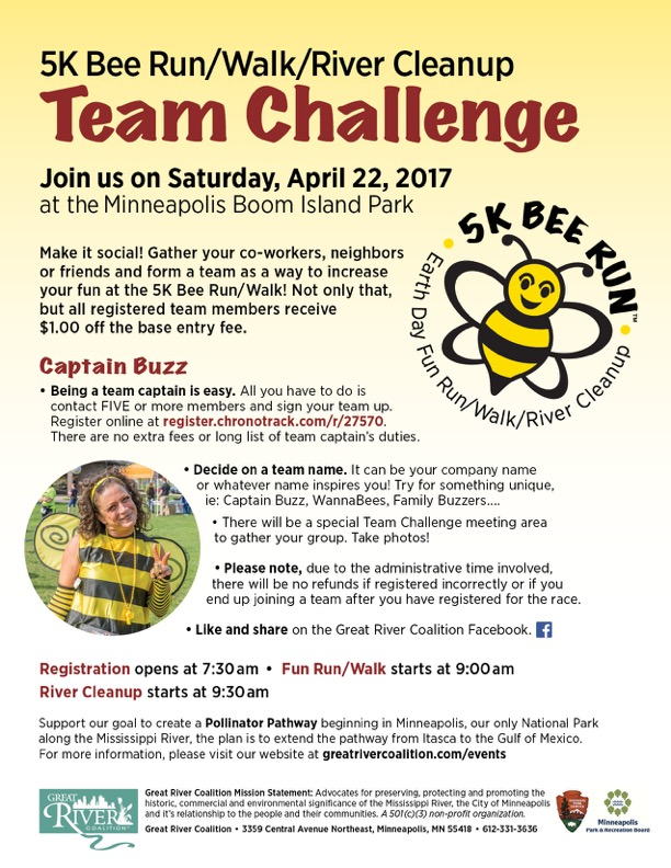 Earth Day 5K Bee Run/Walk/Cleanup | Anderson Races | Event Management
