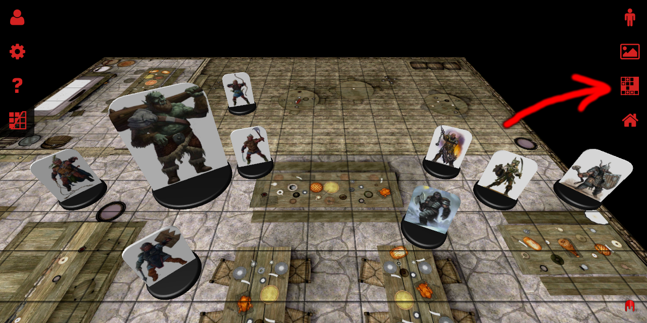 3D Virtual Tabletop Scenarios Button