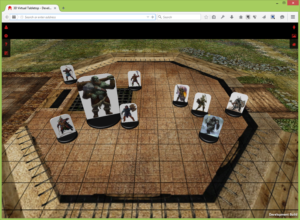 3D Virtual Tabletop Online in Web Browser