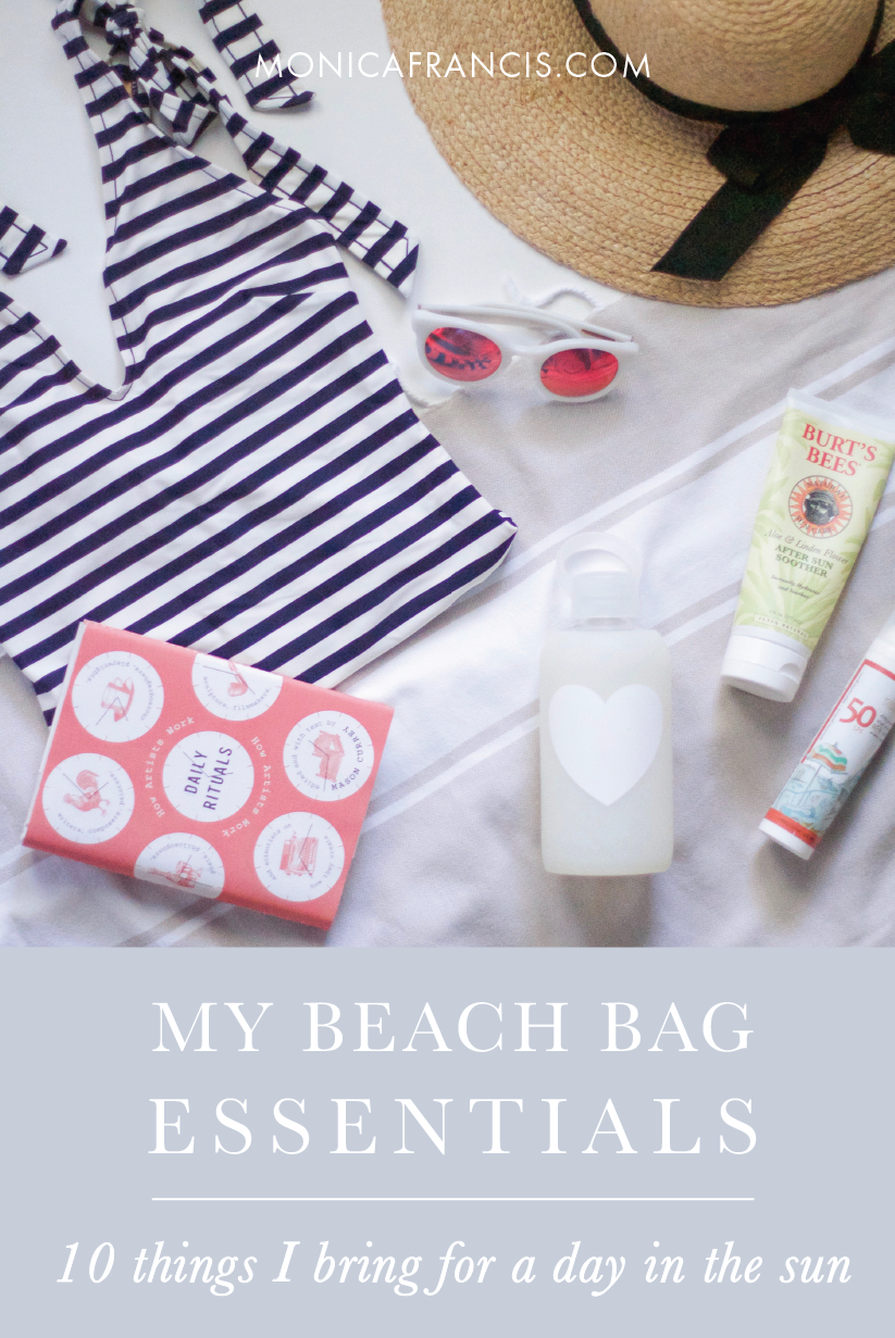 Summer Beach Bag Essentials | A packing list of the 10 products I always bring for a day in the sun, and why.
