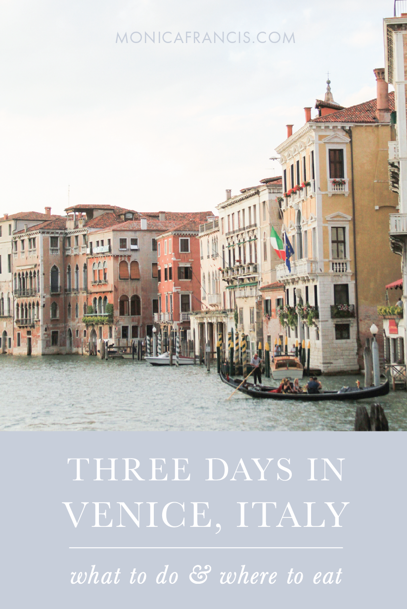 Three Days in Venice, Italy | What to See and Where to Eat: the best food and things to do in Venice  | A travel guide for a weekend in the floating city, from must-see sights to a cicchetti crawl | With a custom google travel map you can save to your phone!