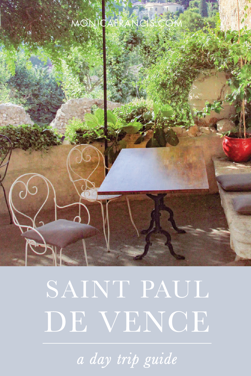 A Day Trip Guide to Saint Paul de Vence, France | How to visit this pretty hilltop village for the day from the French Riviera | What to see and do from restaurants and hotels to the prized artwork and artistic history of Saint Paul-de-Vence