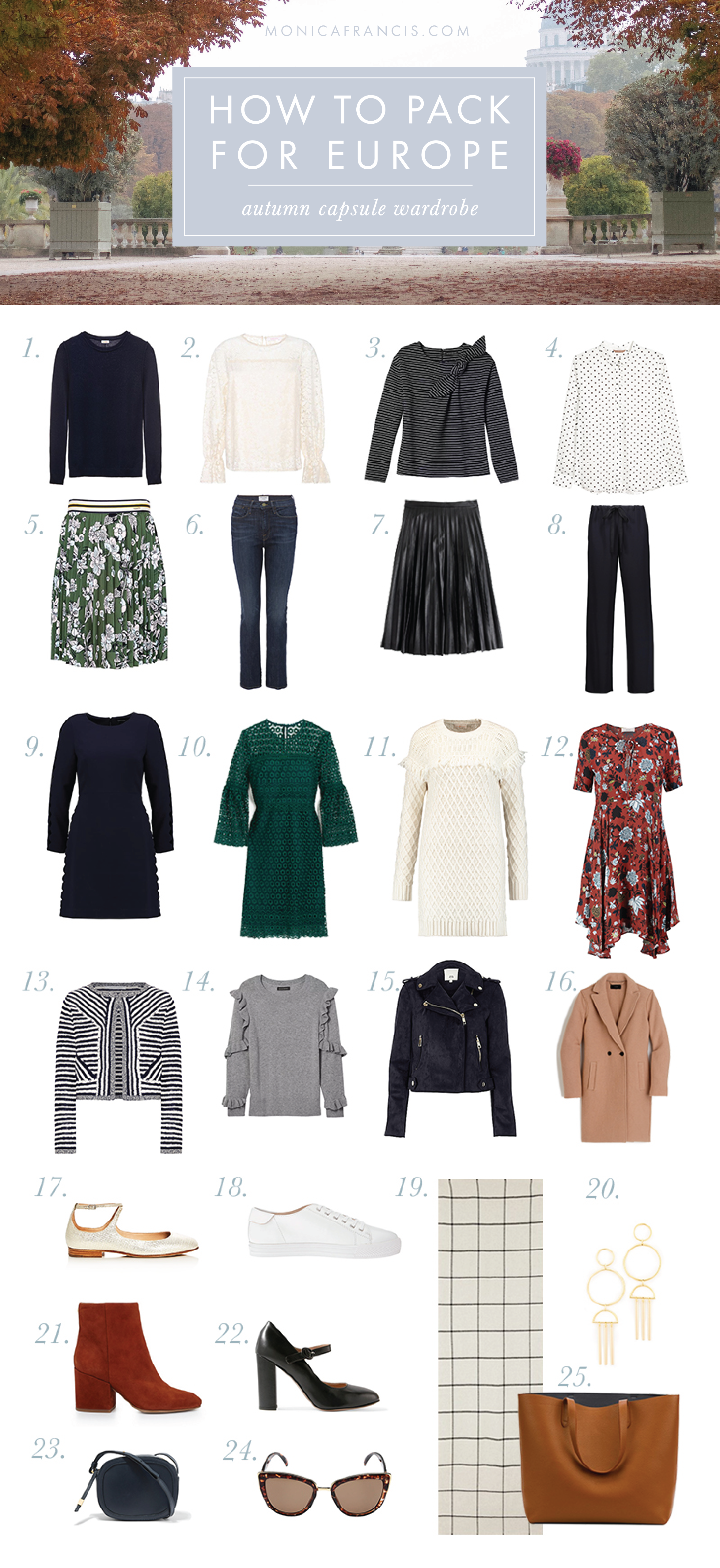 13852a8dc368 How to Pack For Europe  Autumn Capsule Wardrobe