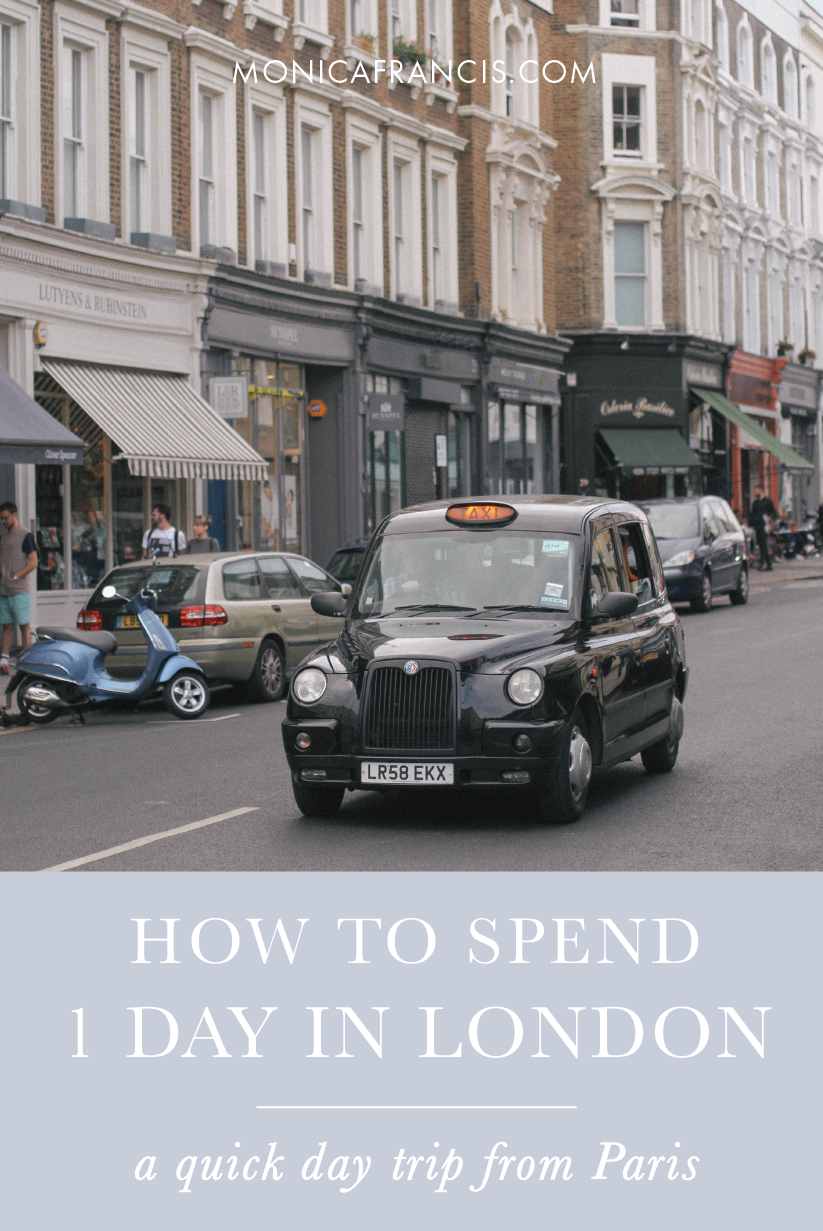 A Day in London: Day Trip from Paris | A quick 2-hour trip on the Eurostar makes London an easy day trip from Paris. See how I spent one day in London, and my advice for planning your own day trip to the UK's capital city. | Day Trip Travel Guide | One Day in London | Things to Do in London