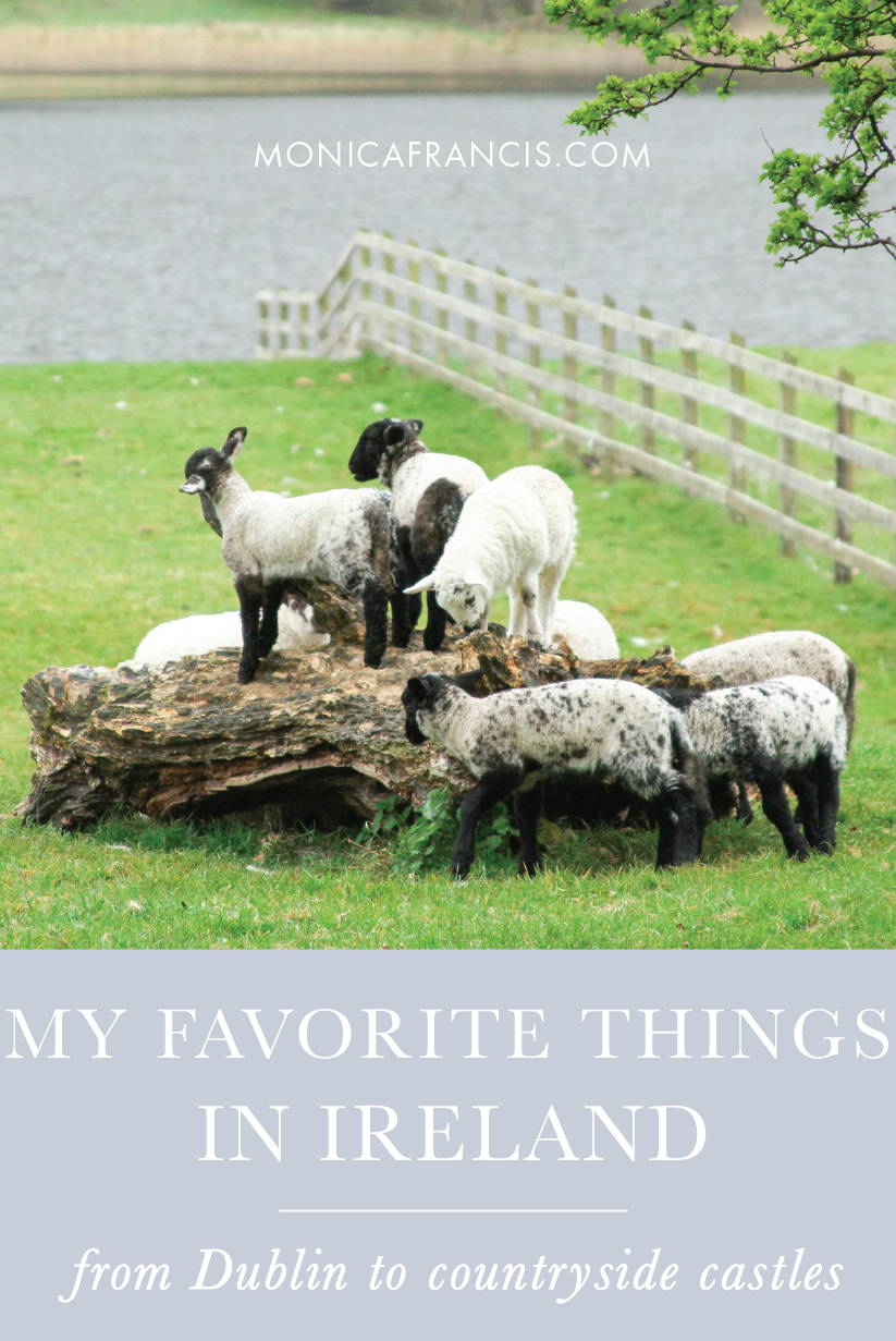 Favorites: Ireland | My best Ireland travel tips, from exploring Dublin to visiting castles in the countryside. | What to Do in Dublin | My favorite castle in Ireland | Driving in Ireland | Dublin Literary Pub Crawl | The Little Museum of Dublin | The Cake Cafe | Ashford Castle