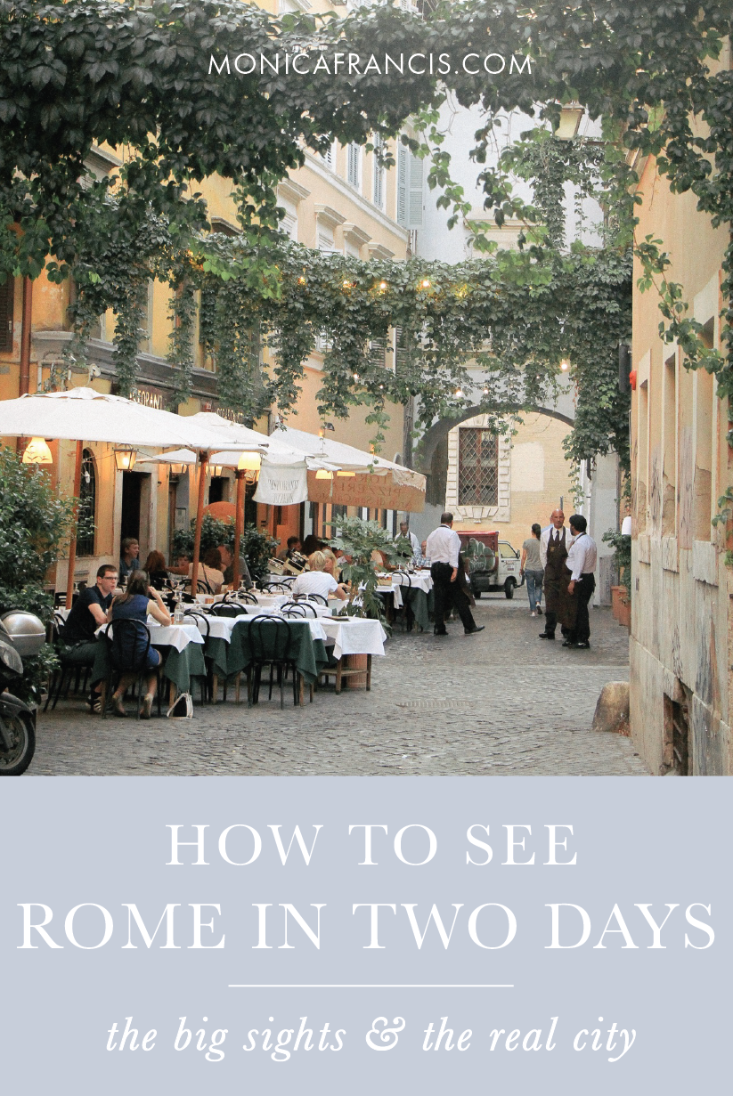 How to Spend a Weekend in Rome, Italy | A complete travel guide for a quick visit to the Eternal City. | Things to do, the best restaurants, and what to wear in Rome. | What to Do for Two Days in Rome | Itinerary for the reluctant tourist: when you want to see the big sights and the real city. | Rome Travel Tips | Free Travel Map Rome