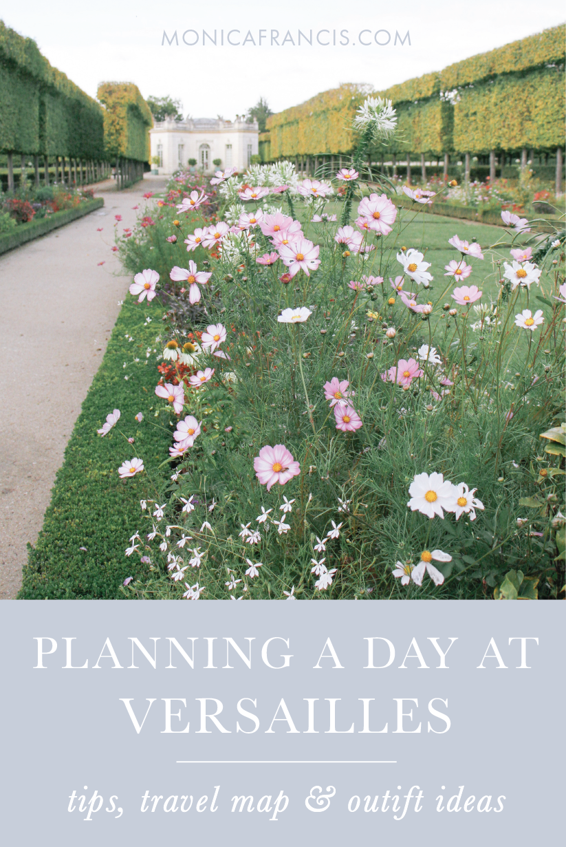 Visiting Versailles: How to Plan a Day Trip to the Palace & Gardens   My best tips for a self-guided tour of the royal chateau, with a custom google travel map and outfit ideas for what to wear.   From the Hall of Mirrors to Marie Antoinette's Petit Trianon, plan the perfect Versailles day trip from Paris, France.