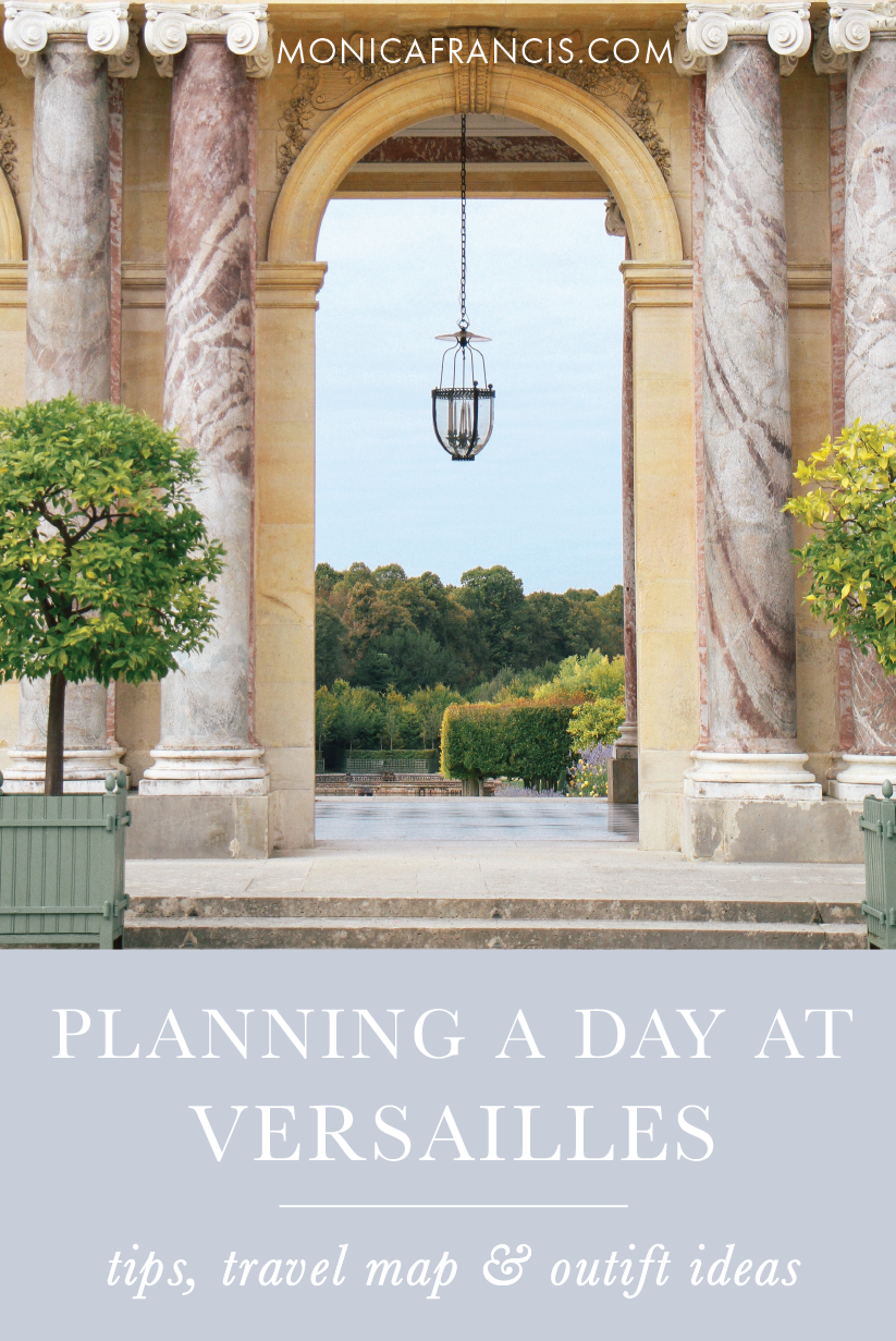 Visiting Versailles: How to Plan a Day Trip to the Palace & Gardens | My best tips for a self-guided tour of the royal chateau, with a custom google travel map and outfit ideas for what to wear. | From the Hall of Mirrors to Marie Antoinette's Petit Trianon, plan the perfect Versailles day trip from Paris, France.