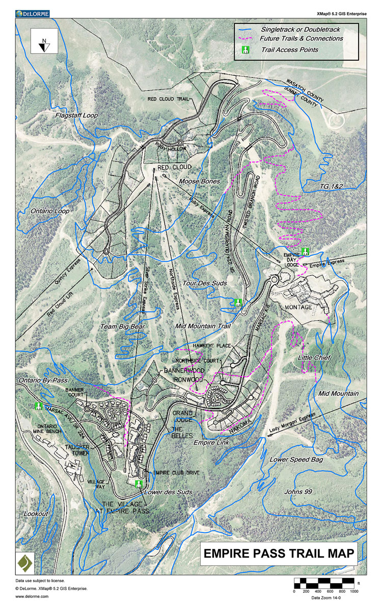 Maps — Empire P MOA Deer Valley Trail Map on