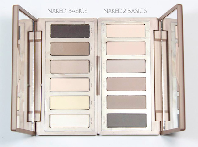 Urban Decay NAKED Basics vs. Urban Decay NAKED2 Basics