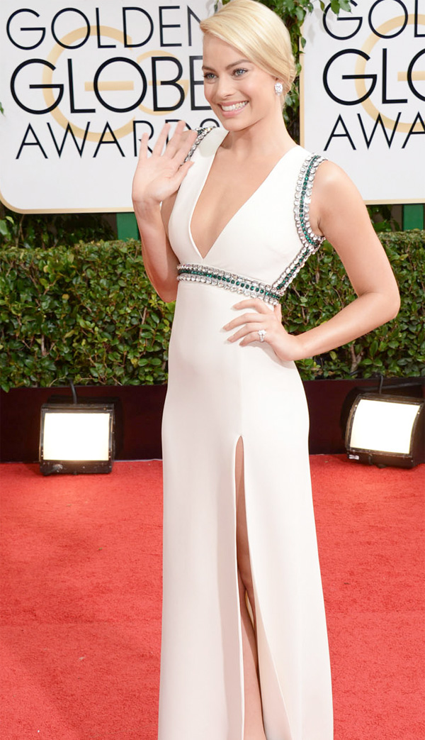 Get the Look: Margot Robbie at the 2014 Golden Globes.