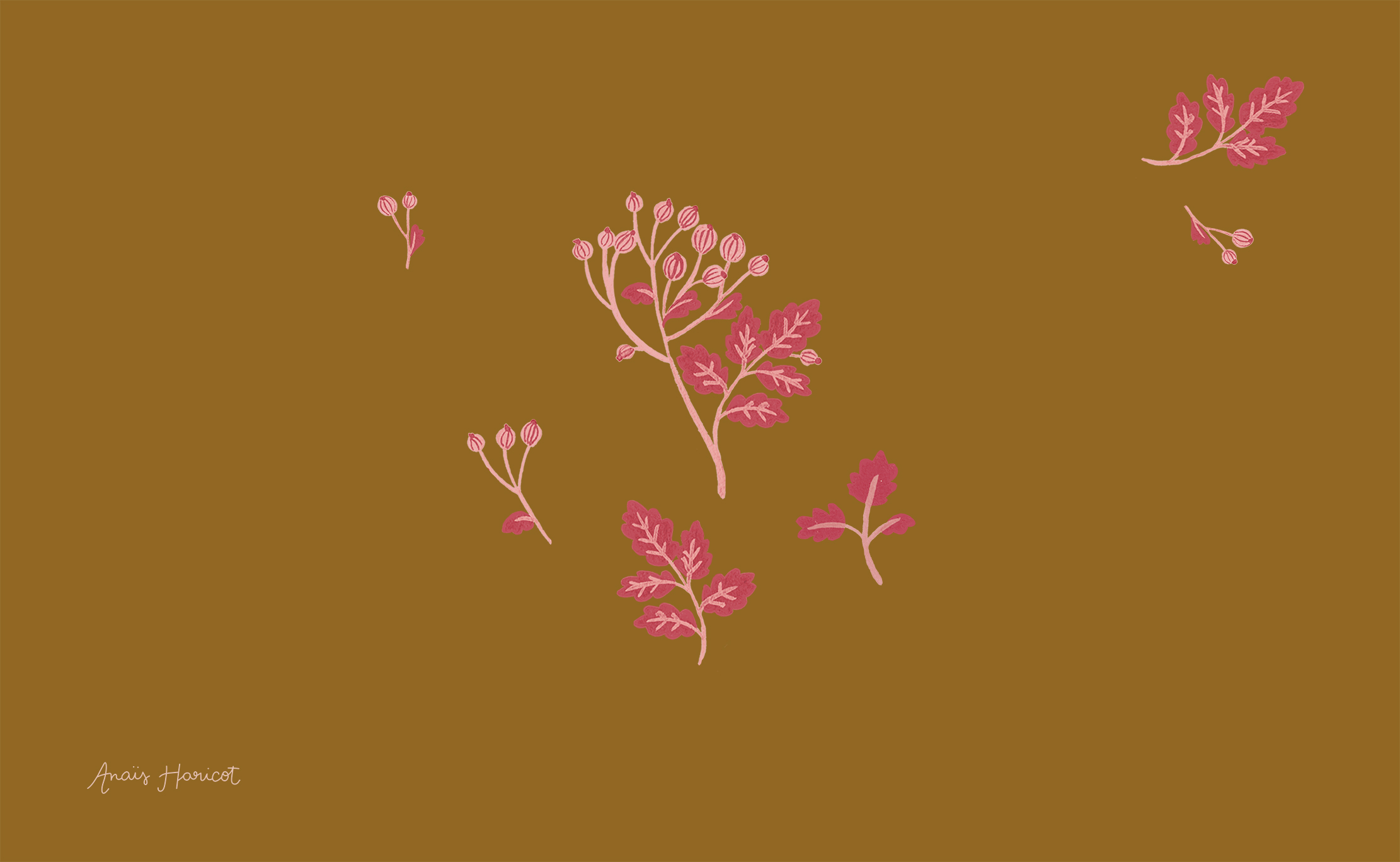 Calendrier Journal Anais Haricot Designer Textile