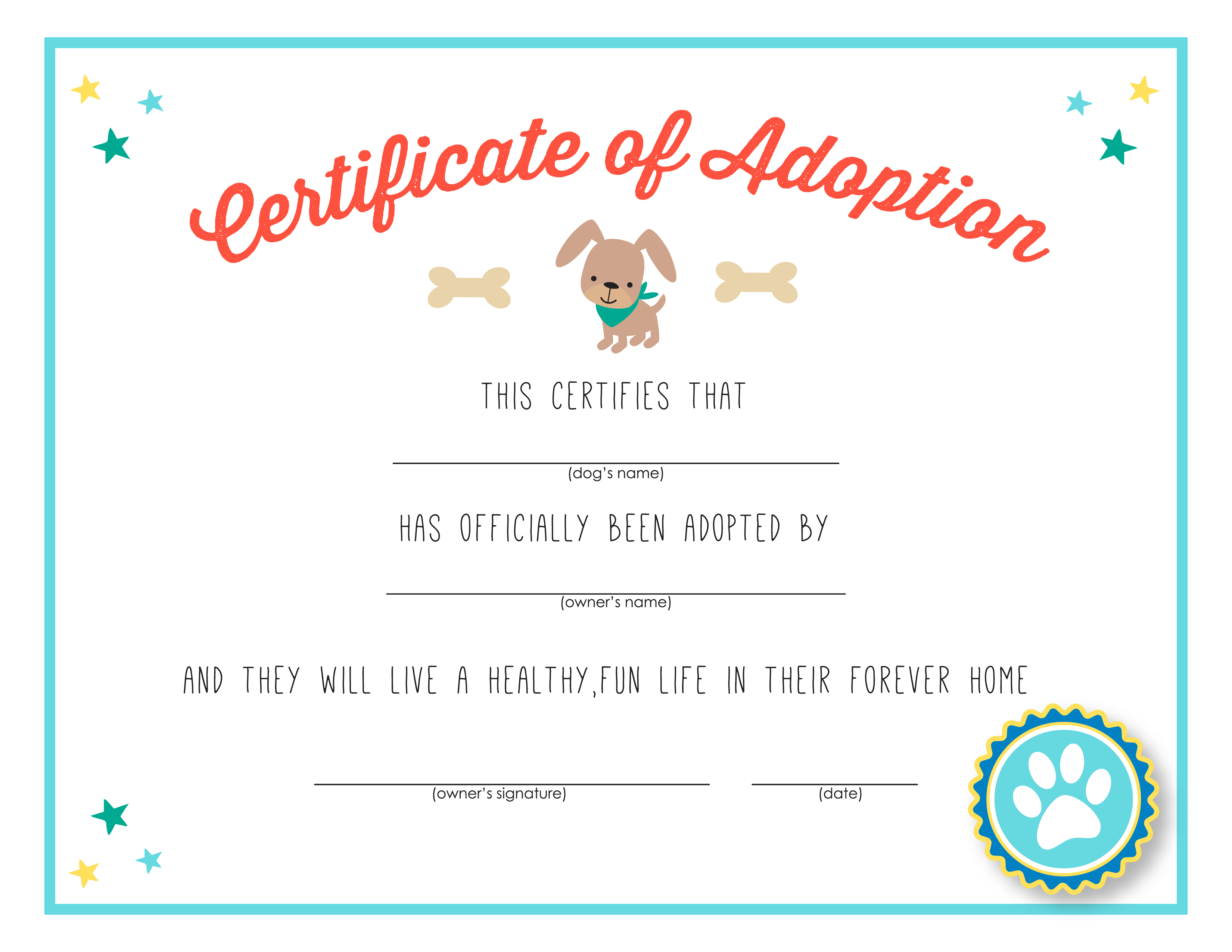 It is a photo of Obsessed Printable Adoption Certificate